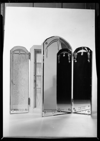Mirror cabinets, Southern California Glass Co., Southern California, 1931