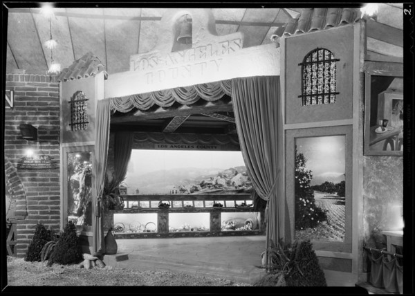 Los Angeles County booth, Southern California, 1930