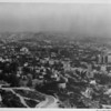 Aerial view of homes in the Hollywood Hills and Hollywood