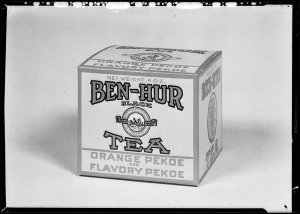 Tea carton, Joannes Corporation, Southern California, 1931