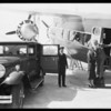 Standard Oil executive etc., at United Airport [Bob Hope Airport], Burbank, CA, 1931