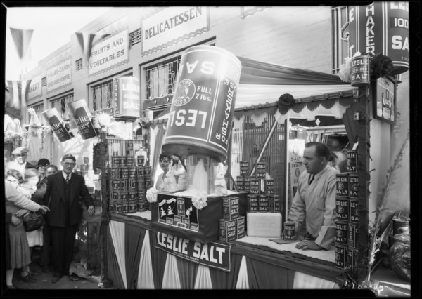 Booth at Hatten's New Market, Southern California, 1931