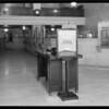 Sign in lobby of Pershing Square branch, Security-First National Bank, Los Angeles, CA, 1930