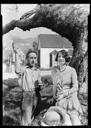 Doreen Banks at tract, Southern California, 1930