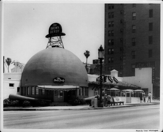 The Brown Derby, exterior view main entrance