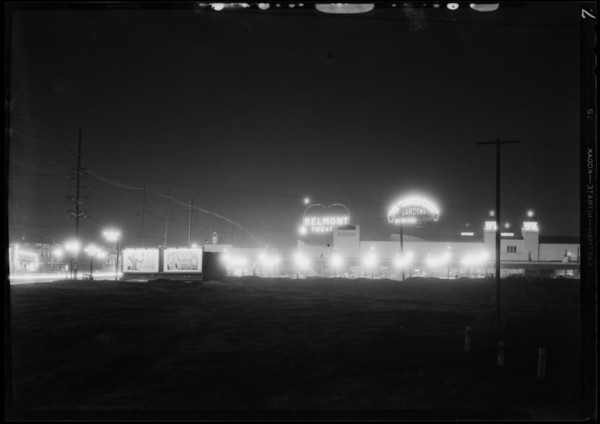 Night shots from 4th Street and Vermont Avenue, Los Angeles, CA, 1931