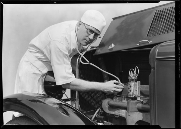 """Doc"" McKean & stethoscope, Southern California, 1930"