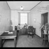 Office interiors, machine shops, new airport, Southern California, 1929