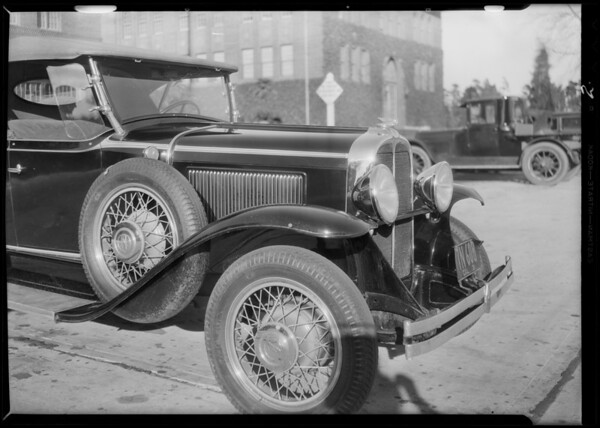 Pontiac, Universal Auto Insurance Co., Southern California, 1931