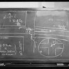 Blackboard, Long Beach court, interrogation of Perris & Willow Watts versus Nathan H. Elliot, Long Beach, CA, 1931