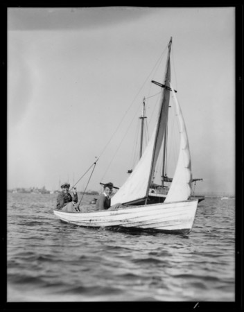Boating at Cabrillo Beach, Los Angeles, CA, 1931
