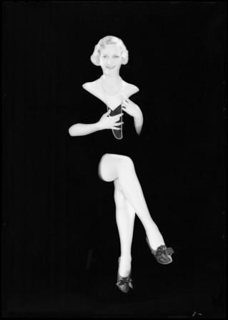 Hosiery shots, Southern California, 1931