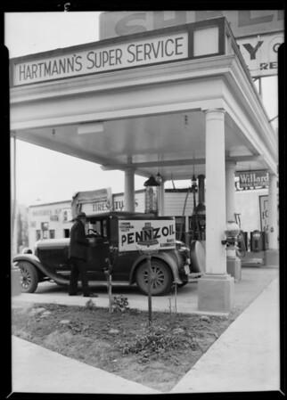 Hartmann's Super Service, 8554 Santa Monica Boulevard, West Hollywood, CA, 1930