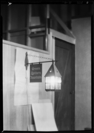 Lamp for composite, Green Lantern Soda Fountains, Southern California, 1929