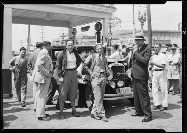 Ralph Hepburn on Oakland - Mexico run, Southern California, 1930