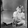 Baby Dorothy McGowan in high chair - (vegetized wafer), Southern California, 1929