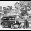 Advertising car from Reno, Southern California, 1930
