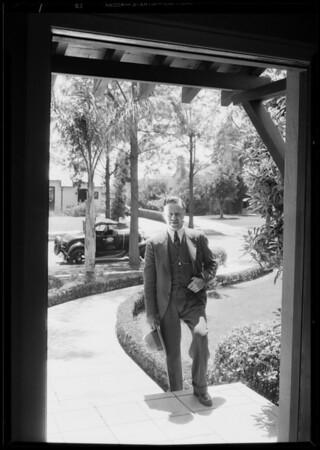 Service man on the job, Southern California, 1930
