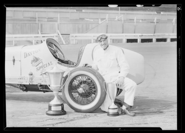 Racing cars at Ascot, Southern California, 1931