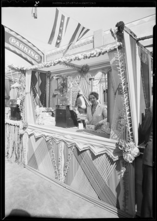 Booth at Hatten's Market, Southern California, 1931