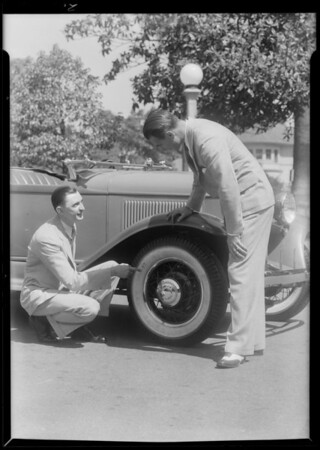 Plymouth with 17 inch Dayton tires, Southern California, 1931