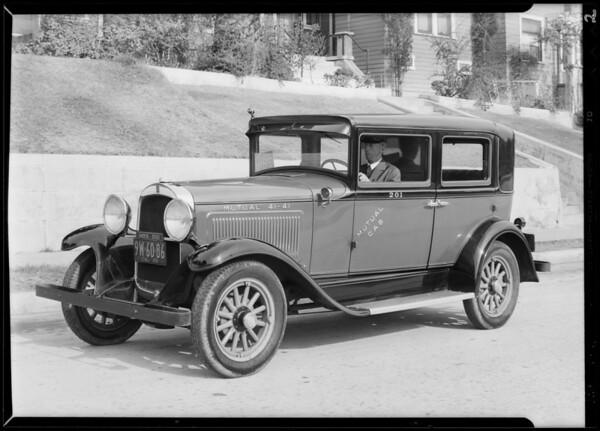 New Mutual cab, Southern California, 1930
