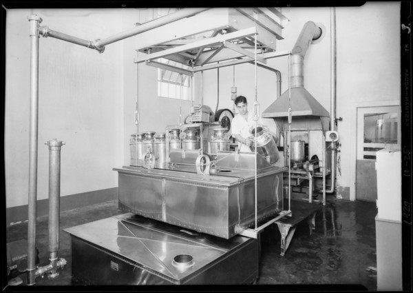 Interiors of plant, Lucerne Creamery, Southern California, 1929