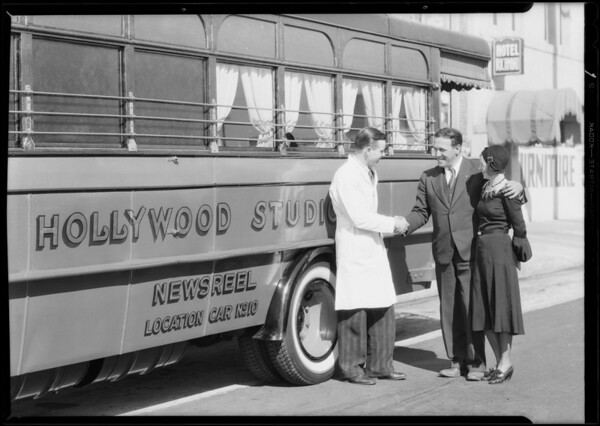 Newsreel location truck, Southern California, 1931