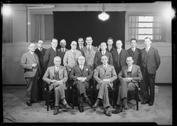 Group of national purchasing agents, Los Angeles, CA, 1931