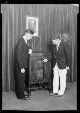 Edison radio at Ambassador, Southern California, 1929