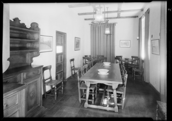 Director's room, Southern California, 1931