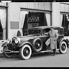Lincoln service cars and Mr. Beesemyer's car, Southern California, 1930