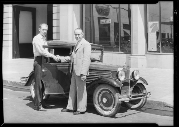 Ralph brothers on test trip, Southern California, 1930