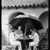 Publicity shots with old lady & children, etc., Southern California, 1929