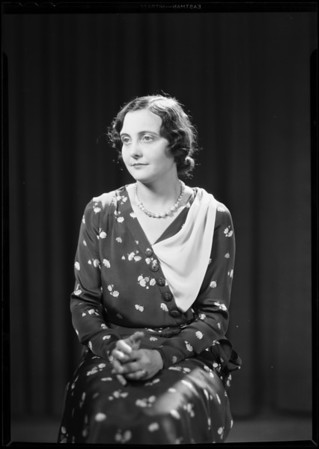 Dorothy Whittington, Southern California, 1931
