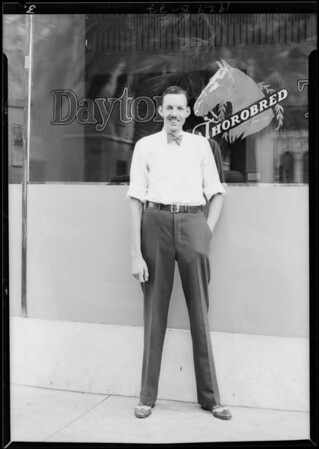 Tall service clerk, Dayton Tire Co., Southern California, 1929