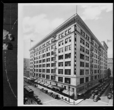 Retouched composite of building, The Broadway Department Store, Los Angeles, CA, 1930