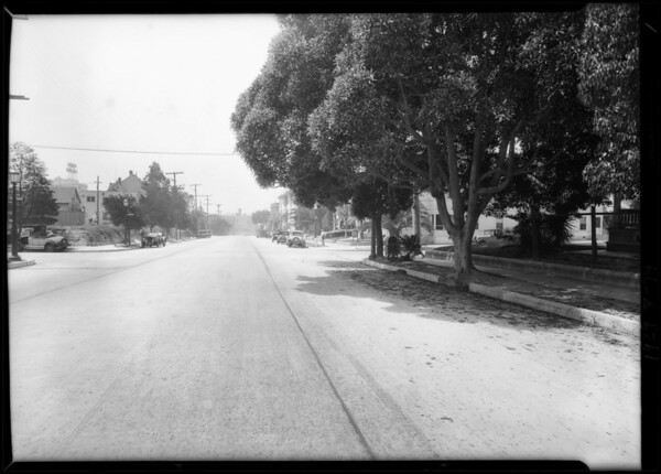 Intersection, West 4th Street and South Bixel Street, Los Angeles, CA, 1929