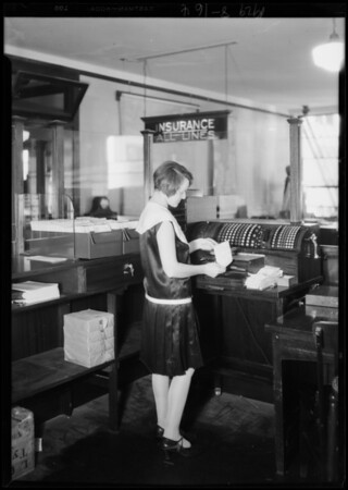 Posting machine, Whiting Finance Co., 111 West 7th Street, Los Angeles, CA, 1929