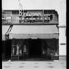 Interior & exterior, Beevan's lingerie shop, Southern California, 1929