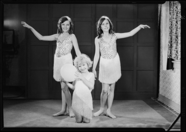 Three little girl dancers from Miss Keller's school, Southern California, 1929