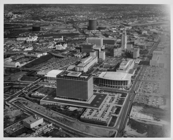 Aerial view of the Civic Center