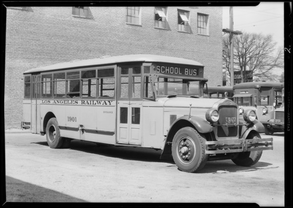 Showing installation on Los Angeles Railway buses, Doering gassing eliminator, Southern California, 1931
