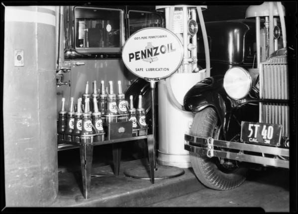 Full line oil, Biltmore garage, Southern California, 1931
