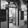 Night shots on drug store door, Green Lantern Soda Fountains, Southern California, 1929