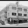 Store buildings - North Figueroa Street and Boston Street and on La Brea Avenue, Swanfeldt Tent and Awning Co., Los Angeles, CA, 1930