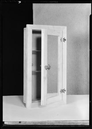 Cabinet mirrors, Southern California Glass, Southern California, 1931