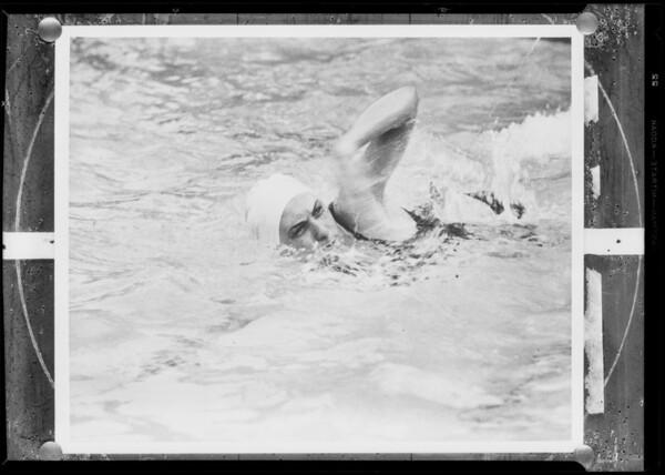 Helene Madison, Olympic swimmer, Southern California, 1930