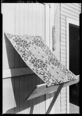 Awning sample, Southern California, 1926