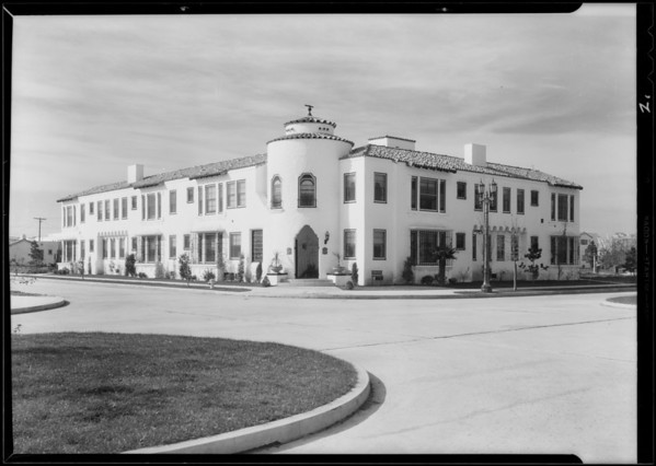 Apartment house, Southwest corner 7th Avenue and West 42nd Street, Los Angeles, CA, 1930